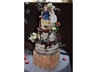 Wedding wood cake stand, birthday, centre piece, candle stand