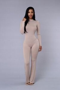 Fashion Nova Naked Wardrobe Nude Jumpsuit xs 6 8 Edgecliff Eastern Suburbs Preview