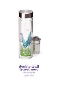 David's Tea Double-Walled Glass Travel Mug