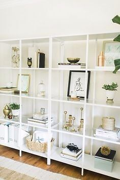 Ikea vittsjo shelving unit white glass assembled in - Glass corner shelf for living room ...