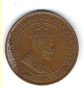 Coin 1907 Canada 1 Cent Penny Kingston Kingston Area image 1