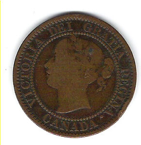 Coin 1859 Canada 1 Cent Penny Kingston Kingston Area image 3