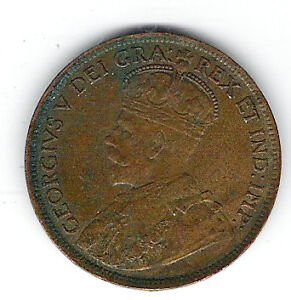 Coin 1918 Canada 1 Cent Penny