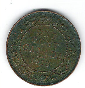 Coin 1918 Canada 1 Cent Penny Kingston Kingston Area image 2