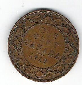 Coin 1919 Canada 1 Cent Penny Kingston Kingston Area image 2
