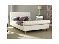 Dreams Super King Bed - Cream Leather with mattress