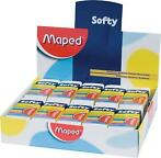 Maped potloodgom Softy medium formaat, doos van 20 stuks