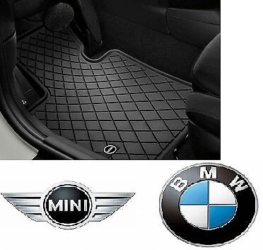 MINI Genuine All Weather Floor Mats Black Design Front Set F55 F56 51472354156