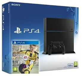 PS4 slim with Fifa 17 and 2 controllers hardly used!!! Bargain!!