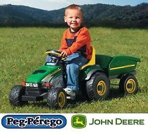 NEW PEG PEREGO JOHN DEERE FARM TRACTOR / TRAILER