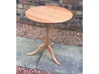 Wood round side table (IKEA)