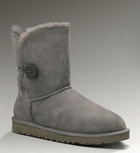 Grey UGG Bailey Button Boots 5803 Boots