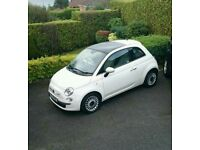 2012 Fiat 500 1.2 Lounge With Glass Roof And Only 15,700 Miles Plus Many More Good Features.