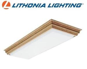 NEW LITHONIA DENTIL FLUORESCENT CEILING FIXTURE - 122596280 - 1.5' x 4' - HOME - LIGHTING