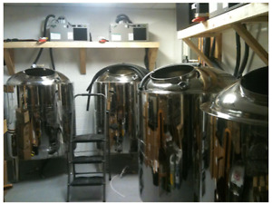 4 Stainless steel micro brewery tanks