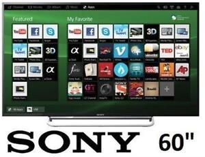 """REFURB SONY 60"""" LED SMART HDTV KDL60W630B 131375084 1080P 120HZ TELEVISION"""