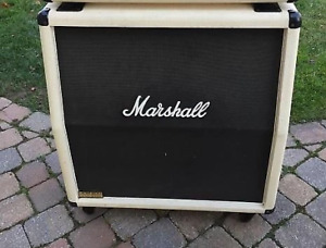 White Tolex Marshall 4x12  Amp Cabinet (early 80's, JCM 800)