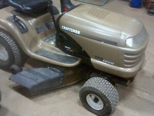 WANTED CRAFTSMAN LTX LAWN TRACTOR GOLD HOOD