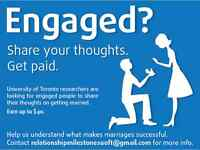 ENGAGED? Earn $40 by participating in a study at UofT!