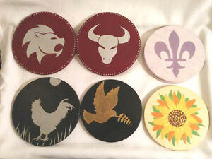 Zodiac Trivets, Leo, Taurus and Rooster