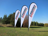 CUSTOMIZED HEADERS & FULL COLOUR PRINTED SIGNS!