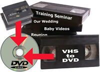 VHS tapes to DVD