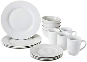 Brand new 16 piece dinnerware set and spoons forks knives