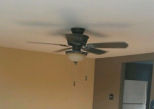 Reduced-Ceiling fan