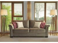 Brand New - Hendon Butterscotch Fabric 3 Seater Sofa