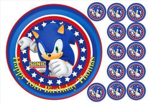 Sonic Cake Topper Ebay