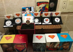 2013 Superman Early Years 7Coin Set Canada w/ $75 14Kt Gold Coin