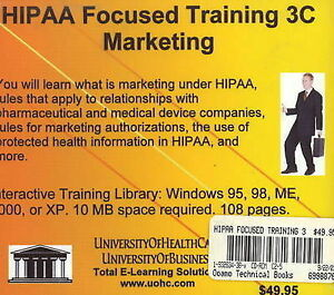 HIPAA Focused Training: Marketing No. 3C, Farb, Daniel, M.D.