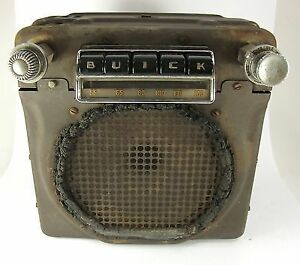 buick car radio old tube model