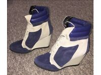 Size UK 6- RIVER ISLAND- Wedge boots