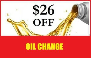 $26 OFF  Complete Oil Change : Good News Auto : UNTIL SEPT 30th