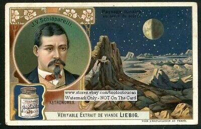 Astronomy Schiaparelli  Telescopic Observations Mars Italy c1906 Card