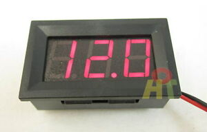 Mini Red LED Digital Volt Meter Panel 4.5~30V For 9V 12V 24V Car Auto Motorcycle
