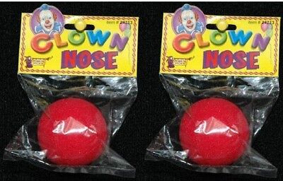 HALLOWEEN RED CLOWN NOSES FOAM NOSE BIG 2