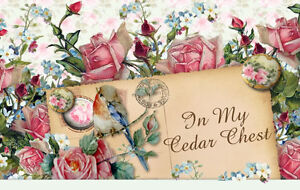 Shabby-Vtg-Chic-Floral-Pink-Roses-Blue-Birds-Cottage-Ebay-Auction-Template-P-E-P