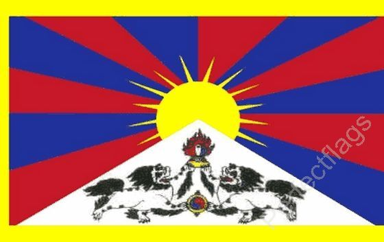 TIBET FLAG - TIBETAN NATIONAL FLAGS - Hand, 3x2, 5x3 Feet
