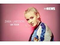 Zara Larsson Tickets (2) o2 Academy Newcastle + Hotel