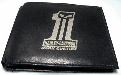 Harley Davidson No 1 Dark Custom Leder Geld Tasche Börse Geldbeutel Geldbörse  gebraucht kaufen  Alkersleben
