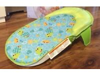 Babies r us folding portable baby bath seat sling NEW