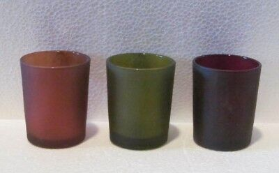 Single Frosted Glass Votive Candle Holder 2.75