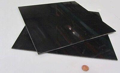 Delrin Pom Acetal Black Sheet 18 .125 X 12 X 12 2 Piece Lot