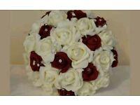 Bridesmaid bouquet fake flowers