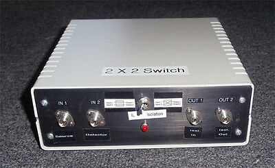 Newport 2x2 Single Fiber Optic Switch With Case Connector And Power Supply