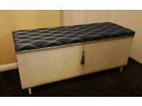 Lloyd Loom Style Blanket Box