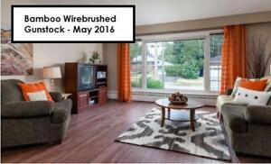 $5.19 Bamboo Hardwood Click Engineered Material and INSTALLATION! Available in 2 COLOURS!!