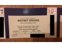X2 BRITNEY SPEARS SAT 25TH AUGUST 02 ARENA PIECE OF ME- GROUND FLOOR SEATS CLOSE TO STAGE- SOLD OUT